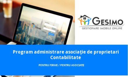 GESIMO – versiunea pentru firmele care administrează imobile